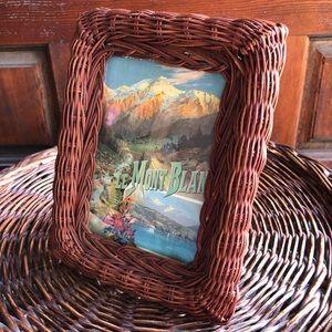 Vintage Wicker Frame